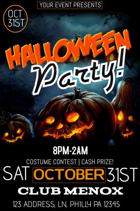 Halloween template postermywall for Halloween flyer ideas