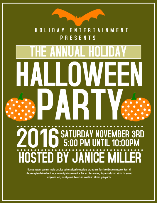 Halloween party template postermywall for Halloween flyer ideas