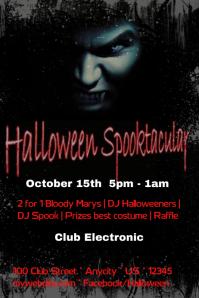 Halloween Spooktacular  Bar Flyers