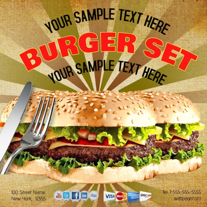 Hamburger Template   PosterMyWall
