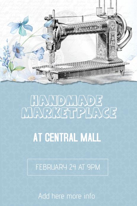 handmade craft marketplace flyer template