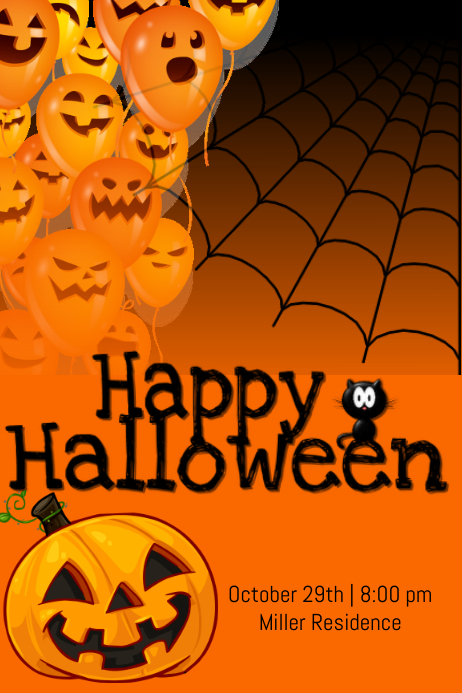 Happy halloween template postermywall for Free halloween flyer templates
