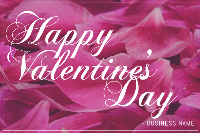 Happy Valentine's Day Flyer Template | PosterMyWall
