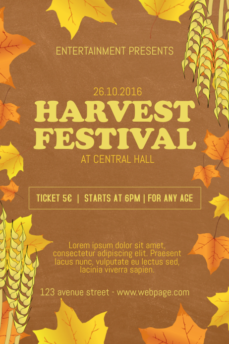 Harvest Festival Flyer Template | PosterMyWall