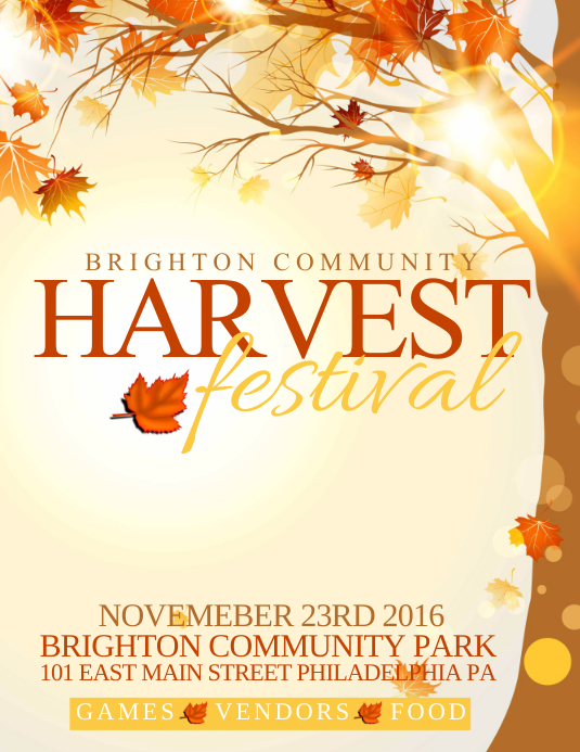 Harvest Festival template | PosterMyWall