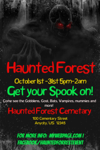 Haunted Forest Event Flyer