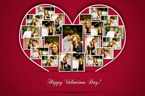 heart shaped photo collage template