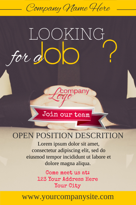 Hiring Poster Template Postermywall