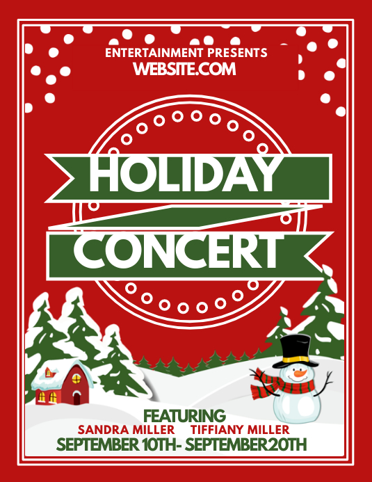 holiday concert template postermywall. Black Bedroom Furniture Sets. Home Design Ideas