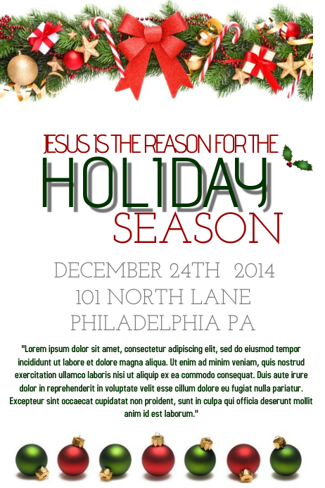 Holiday Flyer Template | TeamTracTemplate's