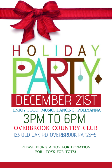 HOLIDAY PARTY template : PosterMyWall