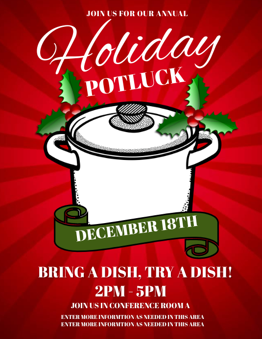 Holiday Lunch Flyer Template Militaryalicious