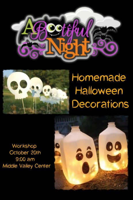 Decorating Ideas > Homemade Halloween Decorations Template  PosterMyWall ~ 214210_Halloween Decoration Ideas Templates
