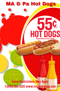 customizable design templates for hotdog postermywall. Black Bedroom Furniture Sets. Home Design Ideas
