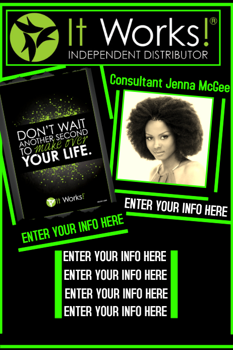 it works flyer template