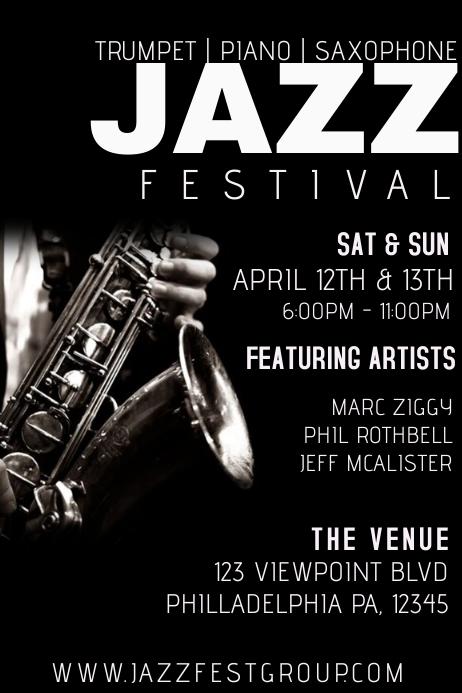 jazz concert template