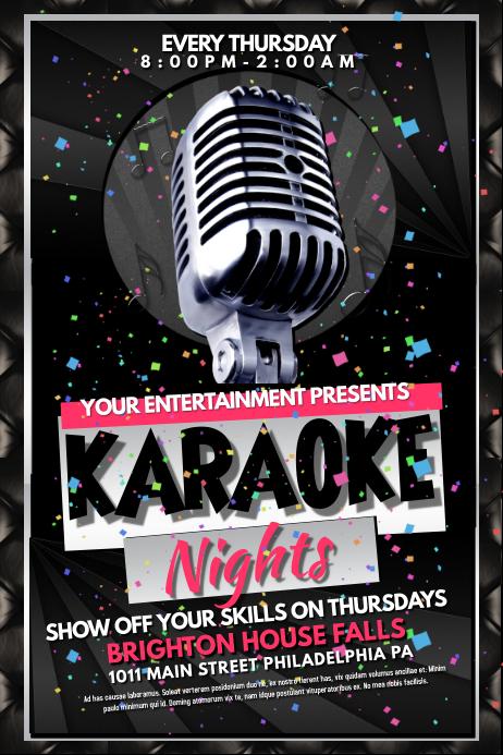 Karaoke template : PosterMyWall