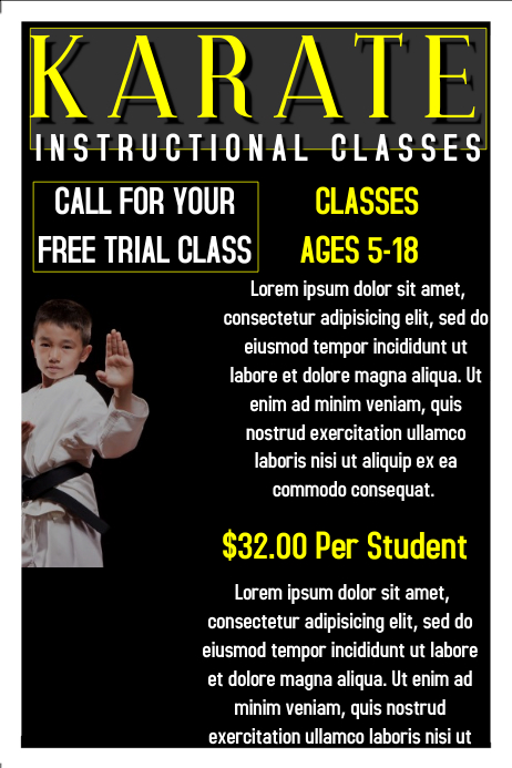 A Sample Martial Arts School Business Plan Template