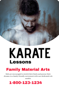 Karate Poster Templates Postermywall