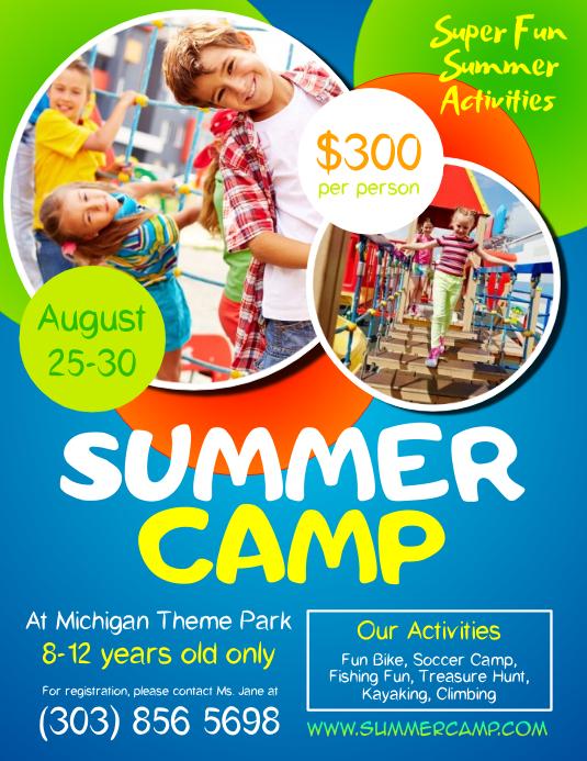 summer camp brochure template - kids summer camp flyer template postermywall