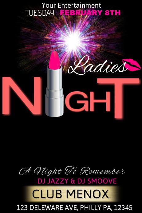 ladies night template