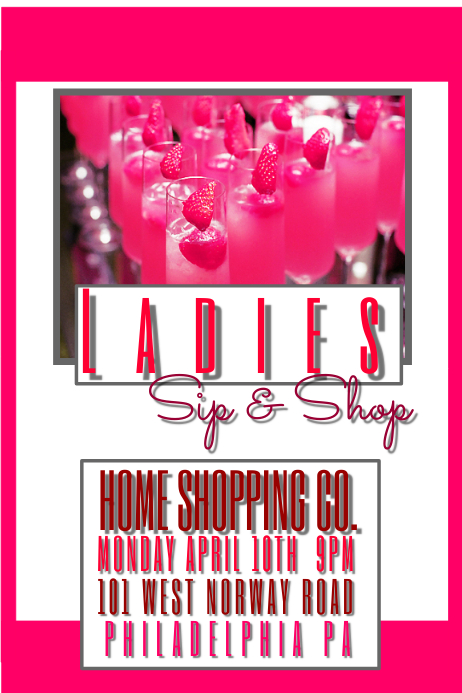 ladies sip and shop template