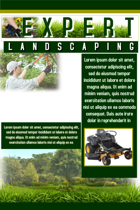 Landscaping flyer template postermywall for Landscaping flyers templates