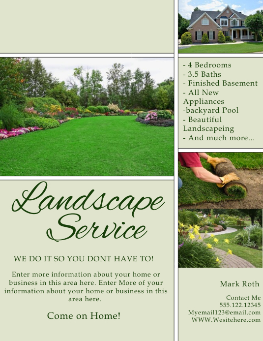 Landscaping flyer backgrounds bing images for Landscaping flyers templates