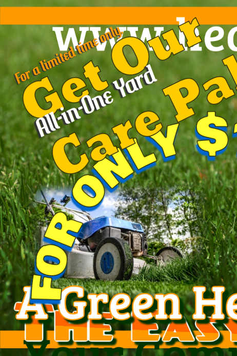 lawn service flyer templates