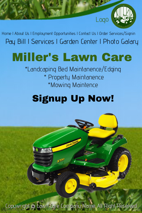 Lawn care service template postermywall for Garden maintenance flyer template