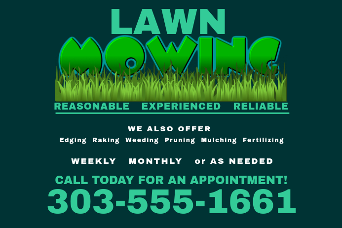 lawn service advertising