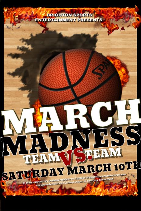 basketball madness flyer ifonts xyz
