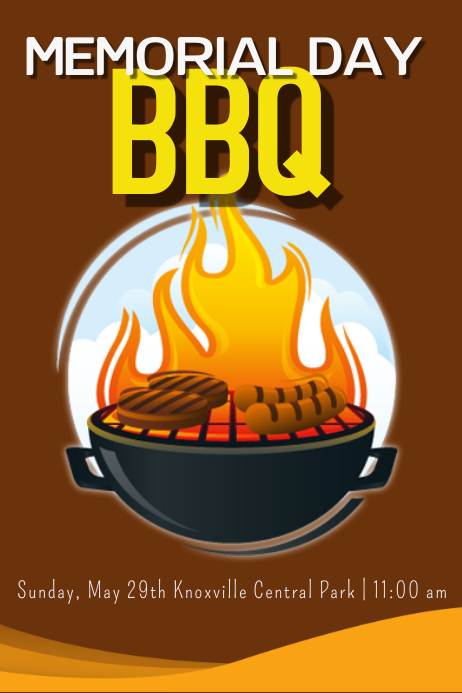 Memorial Day BBQ template : PosterMyWall