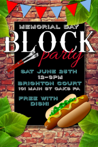 Customizable design templates for memorial postermywall for Block party template flyers free