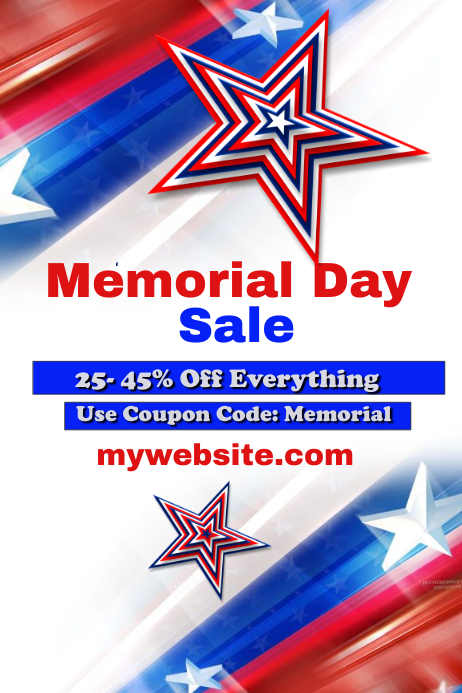 Memorial Day Sale Event template : PosterMyWall