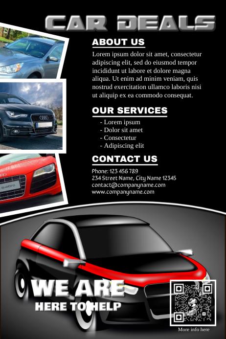 modern template flyer for cars dealership business postermywall. Black Bedroom Furniture Sets. Home Design Ideas