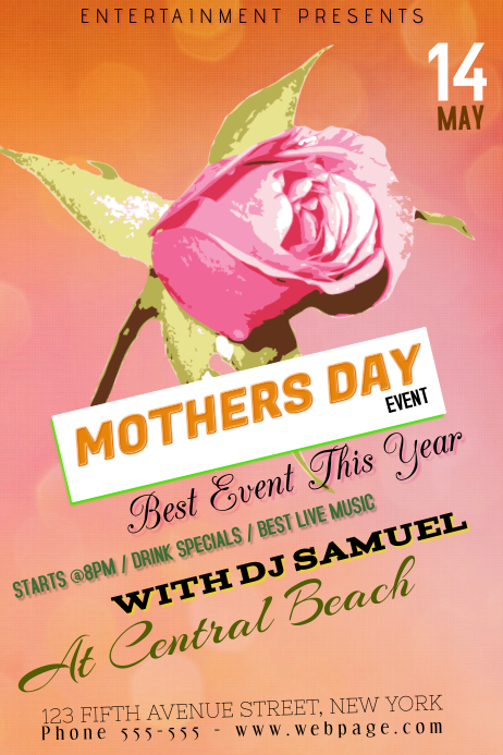 Marathon Poster Ideas Mothers Day event flye...