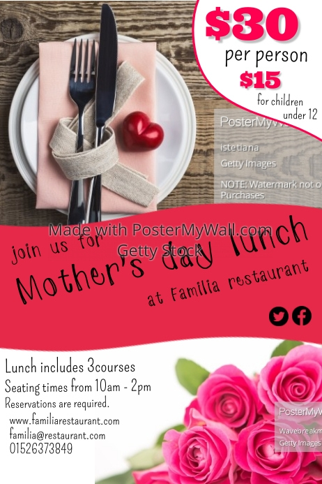 Mother's Day is less than 2 weeks away and it's time to start preparing for the big day. The most important thing about this day is making Mom feel special and we have exactly what you need to make that happen. For the most part, you can tweak the lunch menu options below to include ideas and recipes you know your mom (or wife) likes.