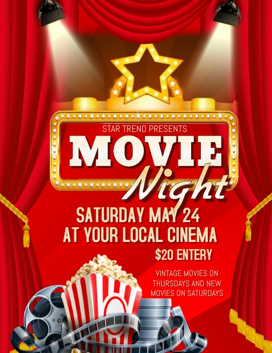 Movie Flyer Template Word  BesikEightyCo