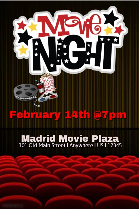 Movie Night Flyer Template Best Images Of Printable Movie Night – Movie Flyer