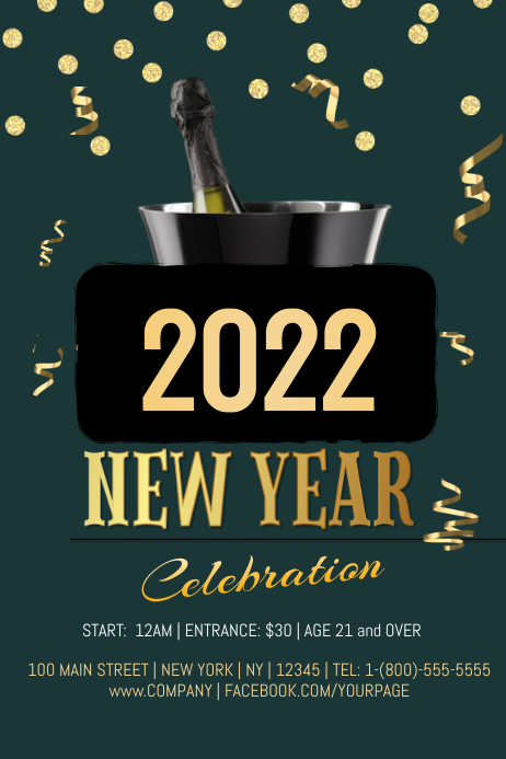 new years celebration template postermywall