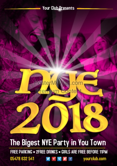 new years eve party poster template postermywall