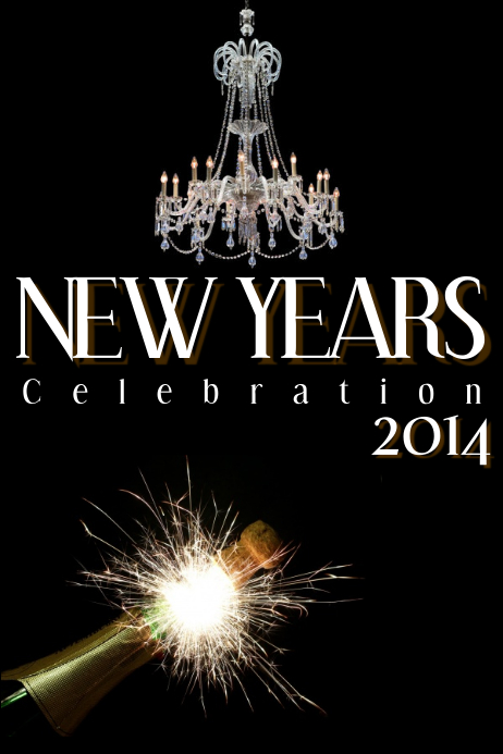 new years flyer template
