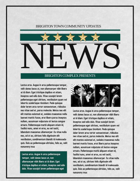 news flyer template