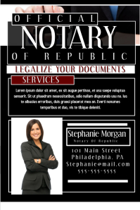 Customizable Design Templates for Notary | PosterMyWall