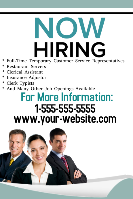 now hiring flyer template