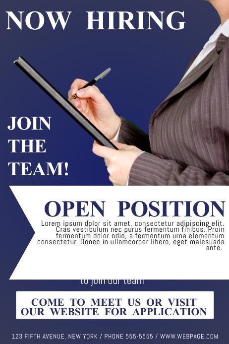 Poster Template » Hiring Poster Template - Poster Template, Frame ...