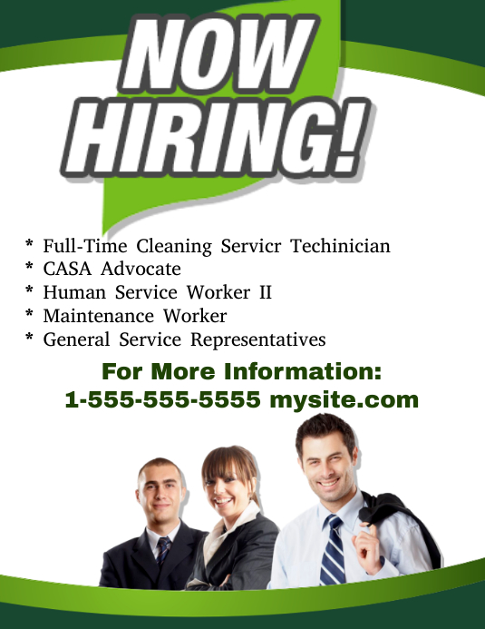 Now Hiring Flyer template : PosterMyWall