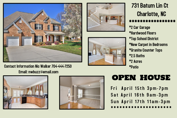 Open House For Sale Template Postermywall