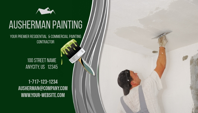 Painting business flyers etamemibawa painting contractor business card template postermywall fbccfo Choice Image